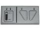 Part No: 87079pb0256L  Name: Tile 2 x 4 with First Order Snowspeeder Hull Plates Pattern Model Left Side (Sticker) - Set 75100
