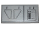 Part No: 87079pb0256R  Name: Tile 2 x 4 with First Order Snowspeeder Hull Plates Pattern Model Right Side (Sticker) - Set 75100