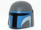 Part No: 87610pb02  Name: Minifigure, Headgear Helmet with Holes, SW Mandalorian with Blue and White Pattern