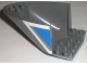 Part No: 87616pb002  Name: Aircraft Fuselage Curved Aft Section 6 x 10 Bottom with White and Blue Geometric Pattern on Both Sides (Stickers) - Set 3222