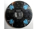Part No: 92549c02pb04  Name: Turntable 6 x 6 Round Base with Black Top with Blue Skulls on White Pattern (Ninjago Spinner)