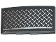Part No: 93606pb042L  Name: Slope, Curved 4 x 2 with Tread Plate and Silver Line Pattern Model Left Side (Sticker) - Set 75919