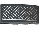 Part No: 93606pb042R  Name: Slope, Curved 4 x 2 with Tread Plate and Silver Line Pattern Model Right Side (Sticker) - Set 75919