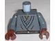 Part No: 973pb0120c01  Name: Torso SW Layered Shirt, Brown Belt Pattern (Mace Windu) / Dark Bluish Gray Arms / Reddish Brown Hands