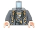 Lot ID: 208891865  Part No: 973pb1103c01  Name: Torso Suit with Dark Green Lapels, Silver and Gold Highlights Pattern / Dark Bluish Gray Arms / Light Nougat Hands