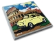 Part No: 10202pb025  Name: Tile 6 x 6 with Bottom Tubes with Yellow Fiat 500, Colosseum and White Signature Pattern (Sticker) - Set 10271
