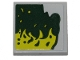 Part No: 11203pb043L  Name: Tile, Modified 2 x 2 Inverted with Lime Slime Pattern Model Left Side (Sticker) - Set 40336