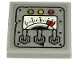 Part No: 11203pb053  Name: Tile, Modified 2 x 2 Inverted with Gauge, 3 Levers and Green, Yellow and Red Lights on Metal Plate Pattern (Sticker) - Set 70432