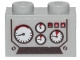 Part No: 11211pb02  Name: Brick, Modified 1 x 2 with Studs on 1 Side with 4 Gauges Pattern (Sticker) - Set 70419