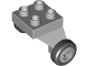 Part No: 13534c01pb01  Name: Duplo Airplane Landing Gear with 4 Studs on Top and 2 Wheels with Classic Pattern