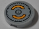 Part No: 14769pb288  Name: Tile, Round 2 x 2 with Bottom Stud Holder with Yellow Curved Arrows Pattern (Sticker) - Set 76067