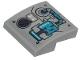 Part No: 15068pb260  Name: Slope, Curved 2 x 2 with Medium Azure Tank and Dark Purple Switch Pattern (Sticker) - Set 70433