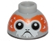 Part No: 20952pb02a  Name: Brick, Round 1 1/2 x 1 1/2 x 2/3 Dome Top with Porg Head, V-Shaped between Eyes Pattern