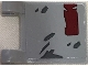 Part No: 2335pb188  Name: Flag 2 x 2 Square with SW Dark Red and Dark Gray Markings Pattern on Both Sides (Stickers) - Set 75202