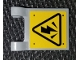 Part No: 2335pb213  Name: Flag 2 x 2 Square with High Voltage Danger Sign Pattern (Sticker) - Set 75927