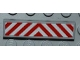 Part No: 2431pb185  Name: Tile 1 x 4 with Red and White Chevron Danger Stripes Thin Pattern (Sticker) - Set 4645