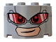 Part No: 24593pb01  Name: Cylinder Half 2 x 4 x 2 with 1 x 2 Cutout with Red Glasses (Giant-Man Face) Pattern