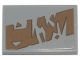 Part No: 26603pb096R  Name: Tile 2 x 3 with Dark Tan Tattered Stripe Pattern Model Right Side (Sticker) - Set 75292