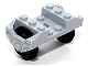 Part No: 2878c02  Name: Train Wheel RC, Holder with 2 Black Train Wheel RC Train and Chrome Silver Train Wheel RC Train, Metal Axle (2878 / 57878 / x1687)