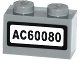 Part No: 3004pb135  Name: Brick 1 x 2 with 'AC60080' Pattern (Sticker) - Set 60080