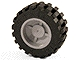 Part No: 30285c01  Name: Wheel 18mm D. x 14mm with Black Tire 30.4 x 14 (30285 / 30391)