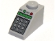 Part No: 3040pb010  Name: Slope 45 2 x 1 with Green and Red Buttons and Keypad Pattern
