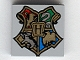 Part No: 3068bpb0092  Name: Tile 2 x 2 with Groove with Coat of Arms Hogwarts Crest Pattern