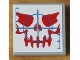 Part No: 3068bpb0307  Name: Tile 2 x 2 with Groove with Ogel Skull with Red Features and Blue Crosshairs Pattern (Sticker) - Set 4748