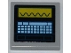 Part No: 3068bpb0646  Name: Tile 2 x 2 with Groove with Oscilloscope and Keyboard Pattern (Sticker) - Set 6860
