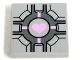 Part No: 3068bpb0689  Name: Tile 2 x 2 with Groove with Companion Cube Pink Heart Pattern