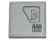 Part No: 3068bpb0697L  Name: Tile 2 x 2 with Groove with SW First Order Snowspeeder Hull Plates Pattern 2 Model Left Side (Sticker) - Set 75100