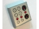 Part No: 3068bpb1159  Name: Tile 2 x 2 with Groove with 8 Gauges and 3 Red Lights Pattern (Sticker) - Set 8289