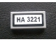 Part No: 3069bpb0128  Name: Tile 1 x 2 with Groove with 'HA 3221' Pattern (Sticker) - Set 3221