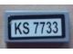 Part No: 3069bpb0199  Name: Tile 1 x 2 with Groove with 'KS 7733' Pattern (Sticker) - Set 7733