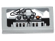 Part No: 3069bpb0325  Name: Tile 1 x 2 with Groove with Winch Controls and White Mountains Pattern (Sticker) - Set 75049