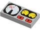 Part No: 3069bpx19  Name: Tile 1 x 2 with Red 82, Yellow and White Gauges Pattern
