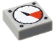 Part No: 3070bp07  Name: Tile 1 x 1 with Groove with White and Red Gauge, Black Thick Needle, 4 Screw Heads Pattern