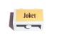 Part No: 32064pb01  Name: Technic, Brick 1 x 2 with Axle Hole with 'Joker' Pattern (Sticker) - Set 7785