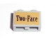 Part No: 32064pb02  Name: Technic, Brick 1 x 2 with Axle Hole with 'Two-Face' Pattern (Sticker) - Set 7785