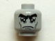 Part No: 3626cpb0779  Name: Minifigure, Head Male Black Bushy Eyebrows, Sad Eyes with White Pupils, Cheek Lines Pattern - Hollow Stud