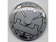 Part No: 3960pb009  Name: Dish 4 x 4 Inverted (Radar) with Solid Stud with Vault Door Pattern