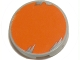 Part No: 4150pb006  Name: Tile, Round 2 x 2 with Orange Circle with Blotchy Gray Edge Pattern (Sticker) - Set 6208