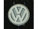 Part No: 4150pb042  Name: Tile, Round 2 x 2 with VW Logo White Pattern (Sticker) - Set 10187