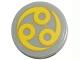 Part No: 4150pb065  Name: Tile, Round 2 x 2 with Yellow Circles Pattern (Sticker) - Set 7678
