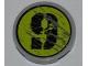 Part No: 4150pb090L  Name: Tile, Round 2 x 2 with Splatters and Black '9' on Lime Backgound Pattern Model Left Side (Sticker) - Set 8708
