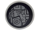 Part No: 4150pb118  Name: Tile, Round 2 x 2 with SW Millennium Falcon Circuitry Pattern (Sticker) - Sets 7778 / 7965