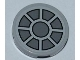 Part No: 4150pb119  Name: Tile, Round 2 x 2 with Dark Bluish Gray Fan Pattern (Sticker) - Set 7965