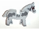 Part No: 4493c01pb09  Name: Horse with Dark Bluish Gray Spots and Covered Eyes Pattern
