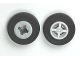 Part No: 4624c05  Name: Wheel 8mm D. x 6mm with Black Tire 14mm D. x 4mm Smooth Small Single - New Style (4624 / 59895)