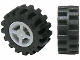 Part No: 4624c06  Name: Wheel 8mm D. x 6mm with Black Tire 15mm D. x 6mm Offset Tread Small - Band Around Center of Tread (4624 / 87414)